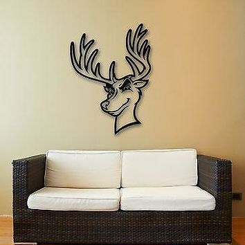 Wall Stickers Vinyl Decal Animal Head Deer Hunting Trophy Woodland Unique Gift (ig775)