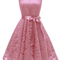 A| Chicloth Women's 1940s Vintage Rockabilly Ball Gown Flared Dress