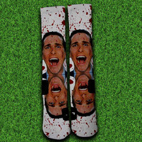 American Psycho Socks,Custom socks,Personalized socks,Elite socks