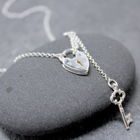HEART LOCK Necklace, Lariat