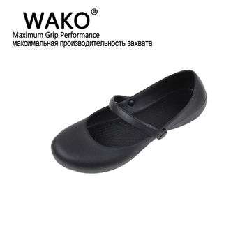 WAKO Professional Chef Work Anti-slip EVA Surgical Shoes Women Cook Kitchen Shoes Black Shoes For Ladies