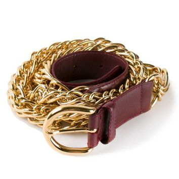 Gucci Vintage triple row chain belt