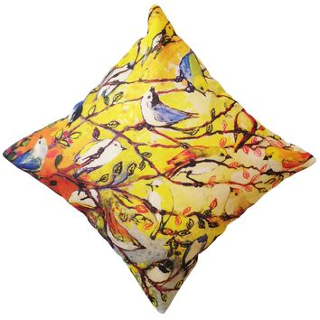 """16"""" x 16"""" with INSERT Decorative Throw Pillow Luxury Square Cushion for Couch Sofa Bedroom and Living Room Multi Bird Print Gifts for All"""