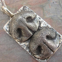 Dog Nose Necklace Personalized in Sterling ilver