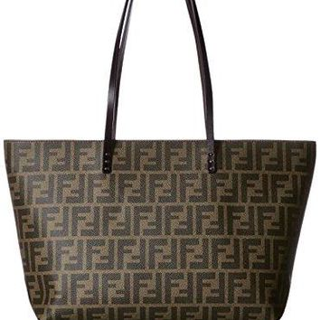 FENDI Zucca pattern 8BH198-00G87/F0QT2 Leather Tote Bag