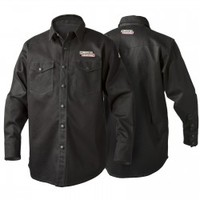 Lincoln Black Flame Retardant Welding Shirt - FREE SHIPPING - Welding Supplies from IOC