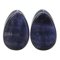 "7/16"" (11mm) Fluorite Teardrop Stone Plugs #6381"