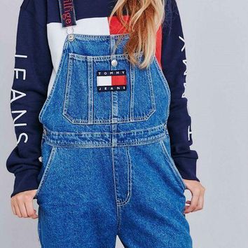LMFV9O Tommy Jeans x Urban Outfitters Fashion Romper Jumpsuit Pants G