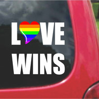 Love Wins Gay Pride Sticker Decal 20 Colors To Choose From.