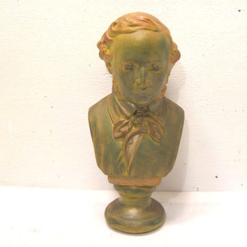 Ceramic, Sculpture, Mendelssohn, Musician, Bust, Composer, Art, Pianist, Conductor, Organist, Artwork, Music, Piano, Room, Chic, Decor, Gift