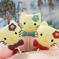 Hello Kitty Lollipops by EdibleSweetCreations on Etsy