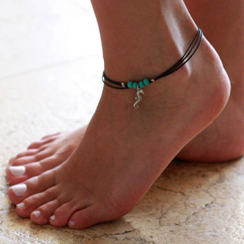 Black Anklet - Multistrand Ankle Bracelet - Silver Anklet - Foot Jewelry - Foot Bracelet - Chain Anklet - Summer Jewelry - Beach Jewelry