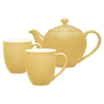 Noritake® Colorwave 3-Piece Tea-for-Two Teapot Set in Mustard