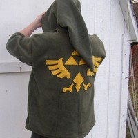 LINK Hoodie Cosplay the Legend of Zelda Deluxe w Hyrule LOGO any size