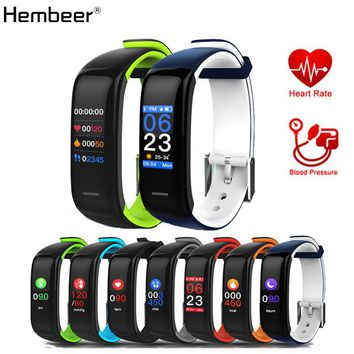 Hembeer H1 Plus Smart Bracelet Most Accurate Heart Rate Monitor Blood Pressure Fitness Clock Colorful Touch Screen PK fitbits