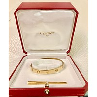 Cartier Gorgeous 18k Yellow Gold Love Bracelet with Box & Certificate, size 18