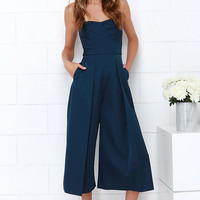 Keepsake True Awakening Navy Blue Jumpsuit