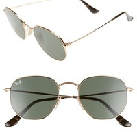 Ray-Ban 51mm Hexagonal Flat Lens Sunglasses | Nordstrom