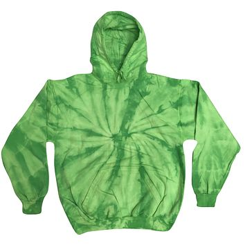 Tie Dye Pullover Multi Color Spider Lime Hoodie
