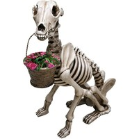 Exclusive What On Earth Skel -A- Dog Skeleton Garden Statue Sculpture