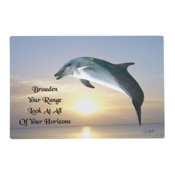 Horizons Quote by Kat Worth Placemat