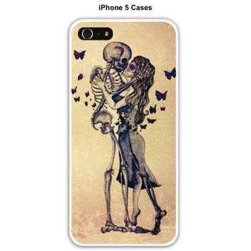 Sugar skull and skeleton iPhone 4/4s/5 case  by ArianaVictoriaRose