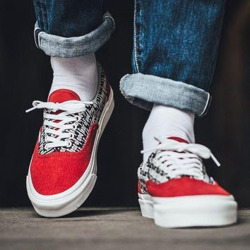 spbest Fear of God x Vans Vault UA ERA 95 DX Red-1