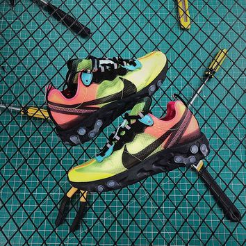 Nike Upcoming React Element 87 Pairs Volt And Racer Pink Sport Running Shoes - Best Online Sale