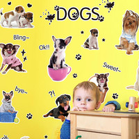Sticker Dogs Wall Decals