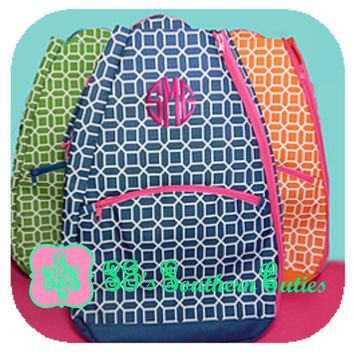 Monogrammed Tennis Backpack, Monogram Tennis Bag with FREE MONOGRAMMING