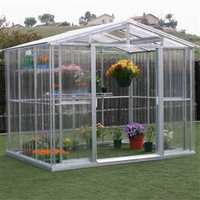 Polycarbonate Greenhouse with Roof Vent 8.5 x 6 ft.