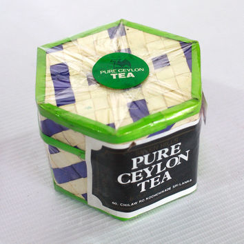 Set of two packages of premium pure Ceylon black tea сompiled by hand packed Sri Lanka nice handmade gift box limited edition.