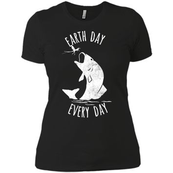 Earth Day Fishing Hook Shirts 2018 Fishing Earth Shirt Next Level Ladies Boyfriend Tee