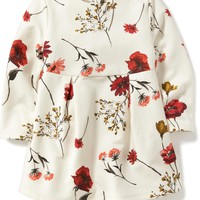 Fleece-Lined Floral Dress for Toddler | Old Navy