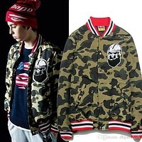 Autumn Winter New Camouflage Men's Casual Baseball Jacket Men Women Models Towel Embroidered Cotton Fashion Jacket Tops