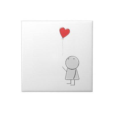 Boy & Balloon Ceramic Tile from Zazzle.com