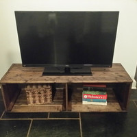 Rustic TV Stand, Rustic Coffee Table, Pallet Furniture, Entertainment Centre, Storage