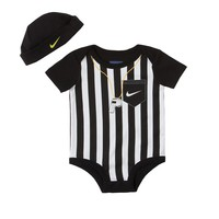 Nike Striped Referee Creeper & Hat Set - Baby, Size: