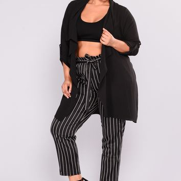 Attraction Duster Jacket - Black