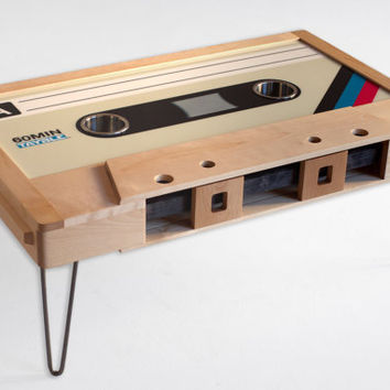 Retro Cassette Tape Coffee Table by 214Graffiti on Etsy