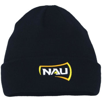 Northern Arizona Lumberjacks Top of the World Simple Knit Hat with Cuff – Navy Blue