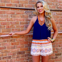 Hot Tamale Tassel Trim Shorts