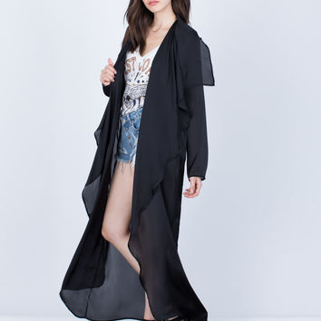 Satin Duster Cardigan