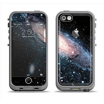 The Swirling Glowing Starry Galaxy Apple iPhone 5c LifeProof Fre Case Skin Set