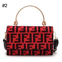 FENDI Tide brand autumn and winter new women's fashion handbags Messenger bag wild retro shoulder bag #2