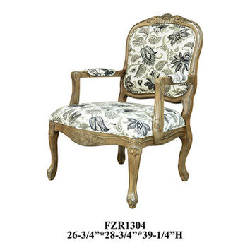 Crestview Huntley Pattern Fabric Accent Chair