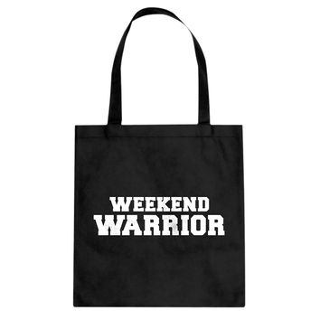 Weekend Warrior Cotton Canvas Tote Bag