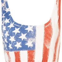 American Flag Bralet - Jersey Tops  - Apparel