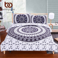 Elephant Bed Sheet Set Bohemian Qualified Soft Duvet Cover and Pillowcases
