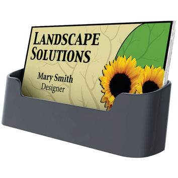 DEFLECTO Sustainable Office Single Business Card Holder 90104 90104 79916025063